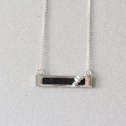 Black bar necklace