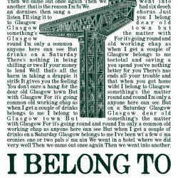 i belong to glasgow crane green wee