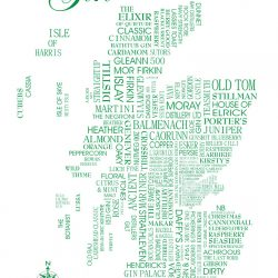 scottish gin tea towel wee