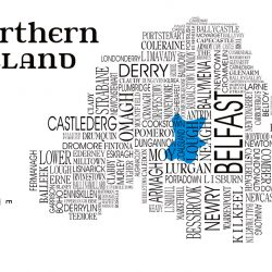 Map Of Northern Ireland Cities.Northern Ireland Map Archives Dead Famous Cities Prints And